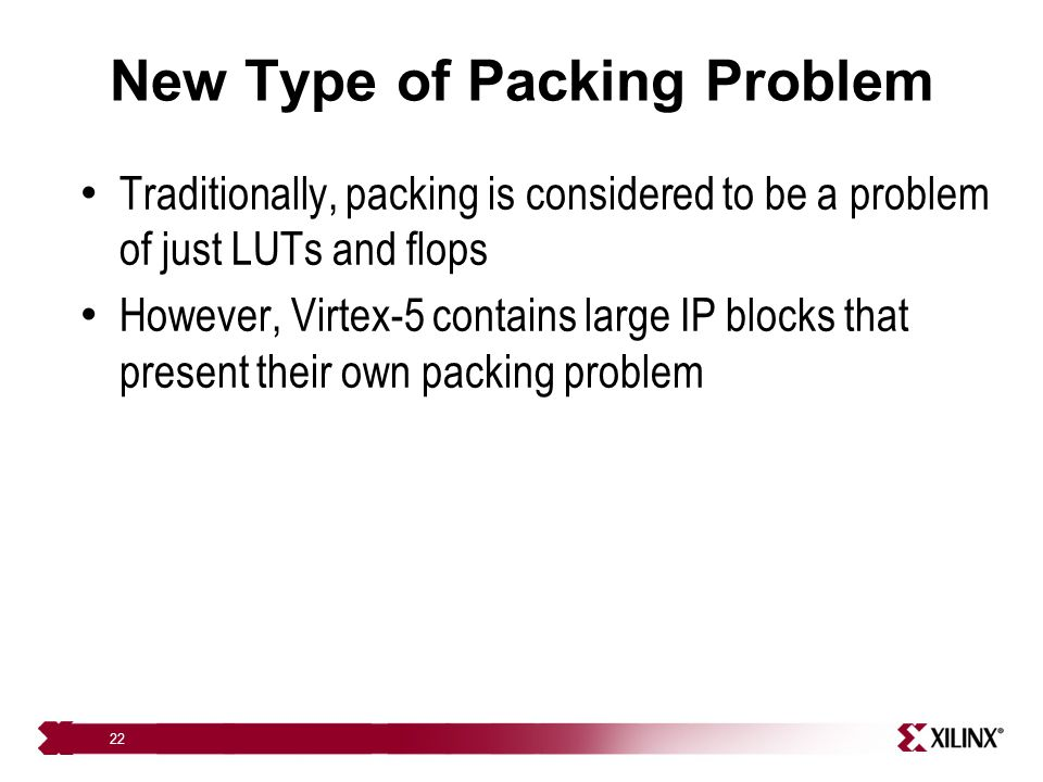 New Type of Packing Problem