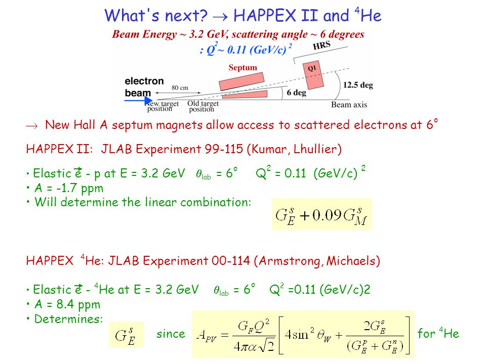 What s next  HAPPEX II and 4He