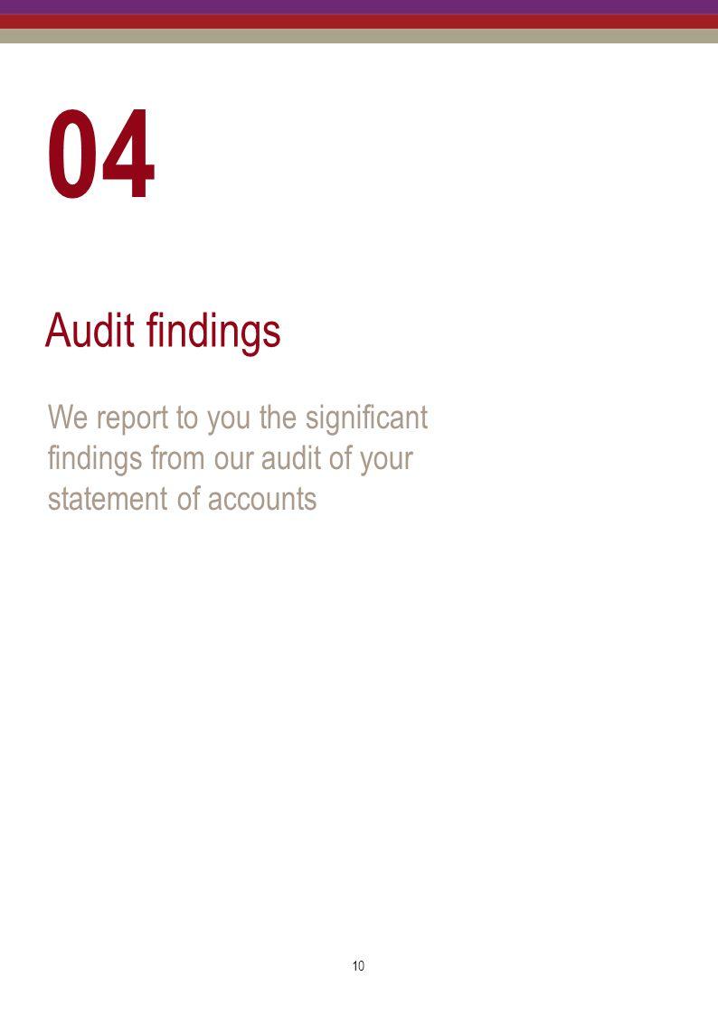 04 Audit findings.