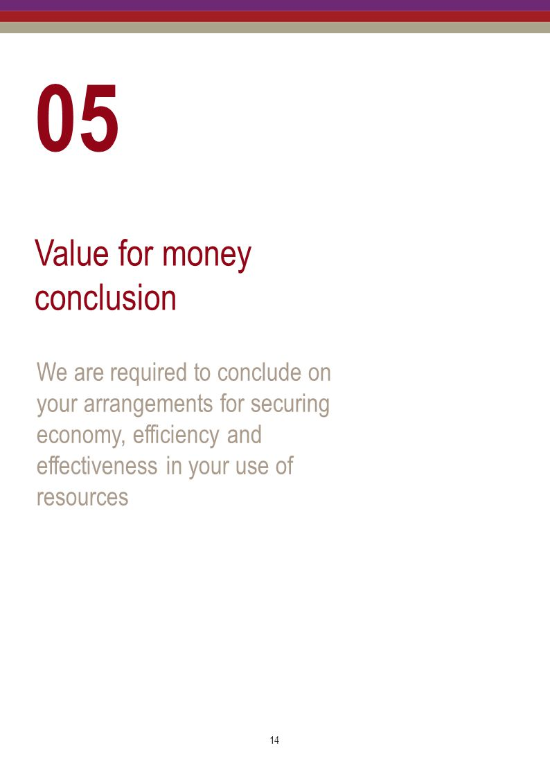 05 Value for money conclusion