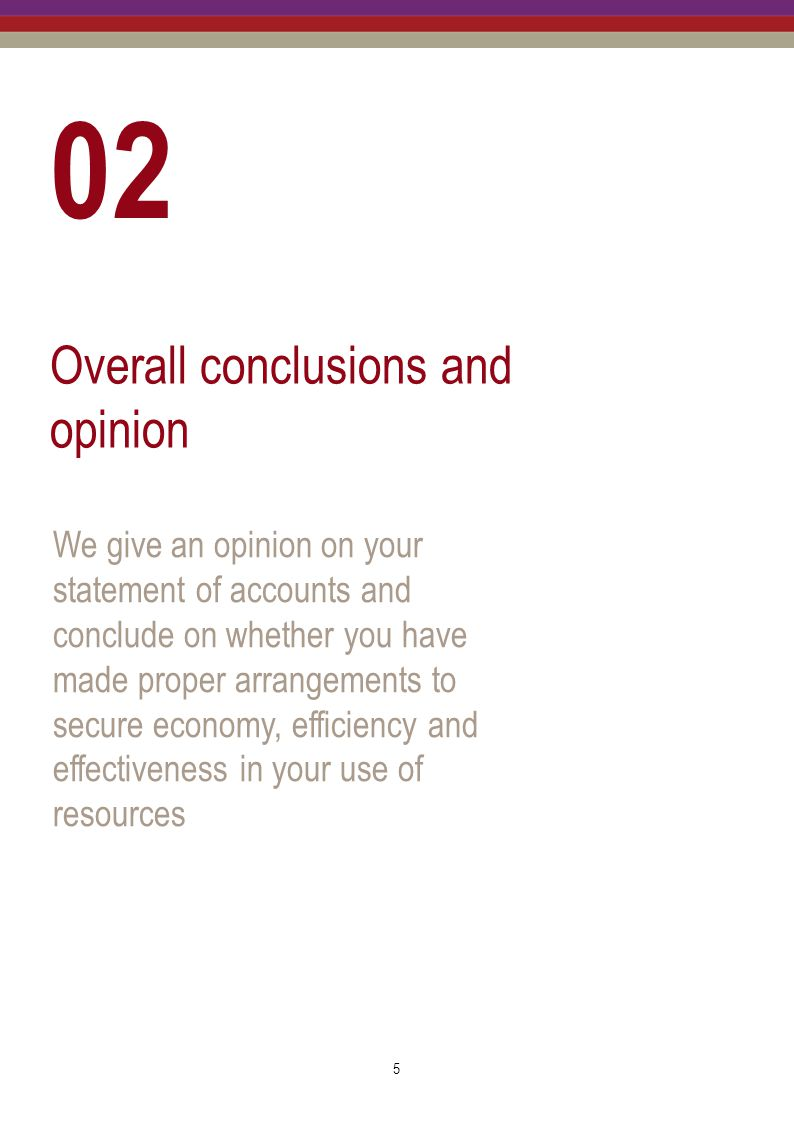 02 Overall conclusions and opinion
