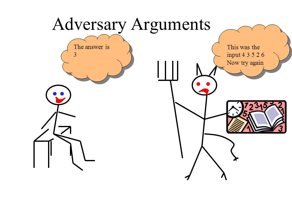 Adversary Arguments The answer is 3