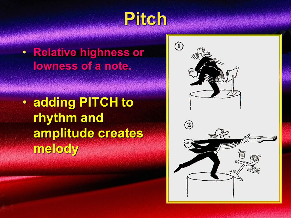 Pitch adding PITCH to rhythm and amplitude creates melody