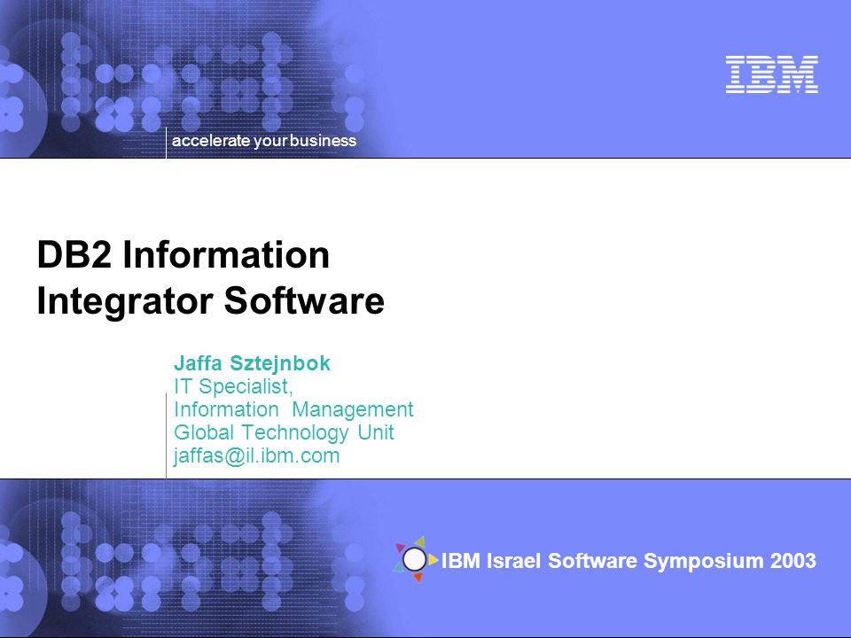 DB2 Information Integrator Software