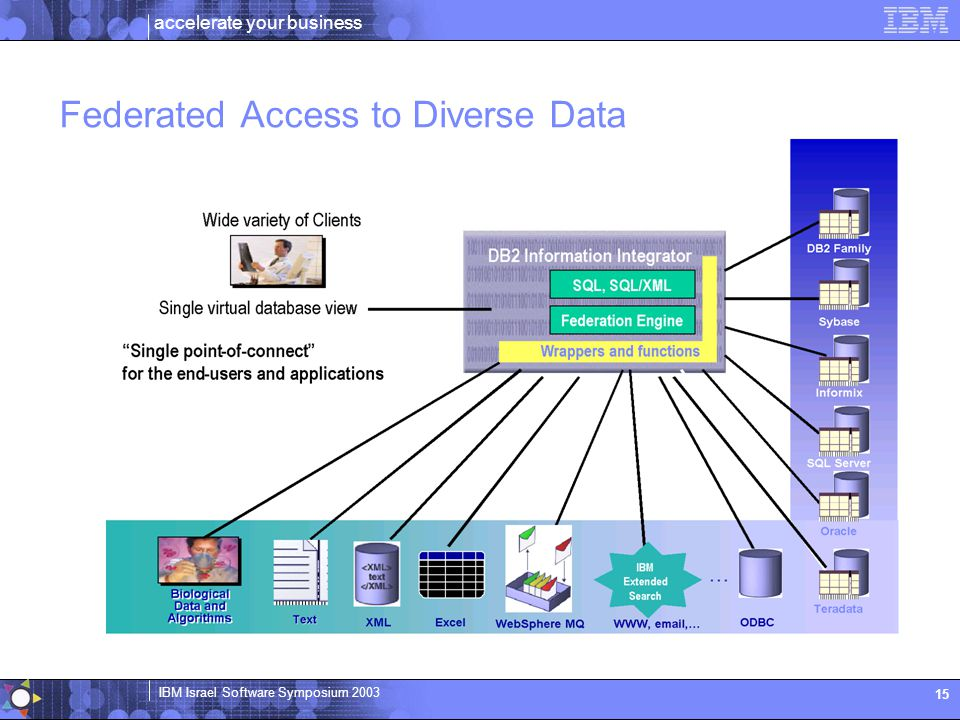 Federated Access to Diverse Data