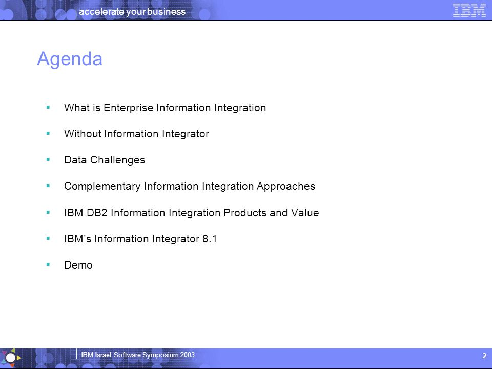Agenda What is Enterprise Information Integration
