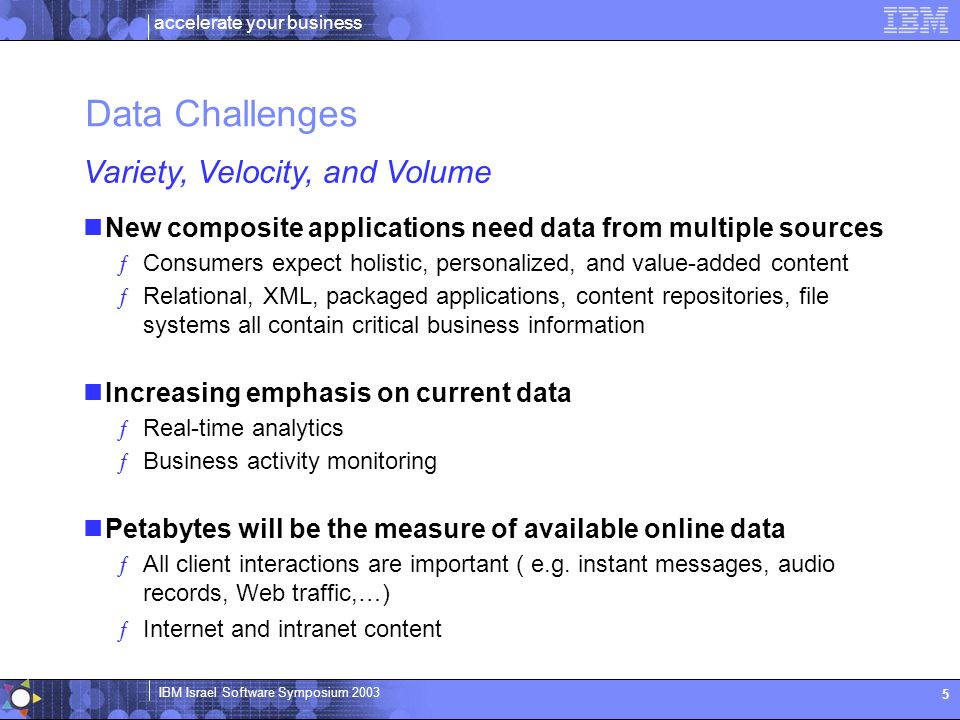 Data Challenges Variety, Velocity, and Volume