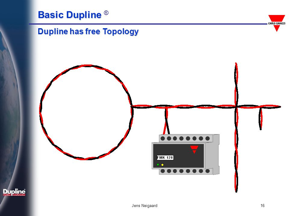 Dupline has free Topology