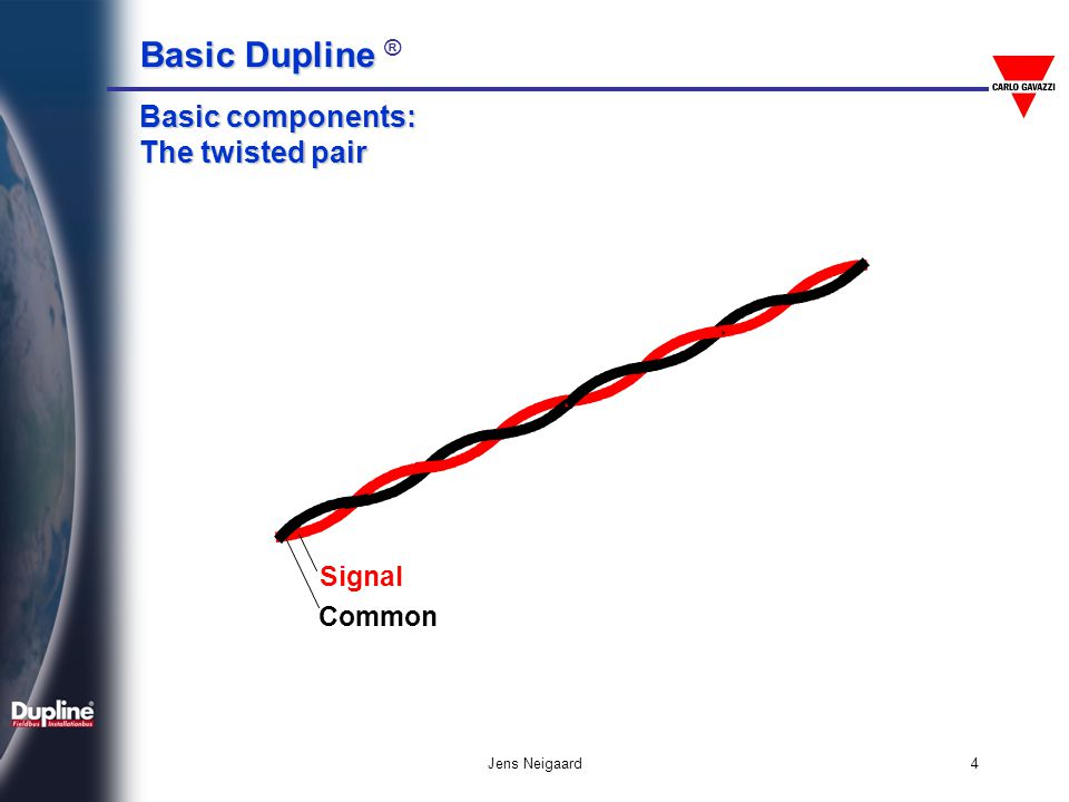 Basic components: The twisted pair