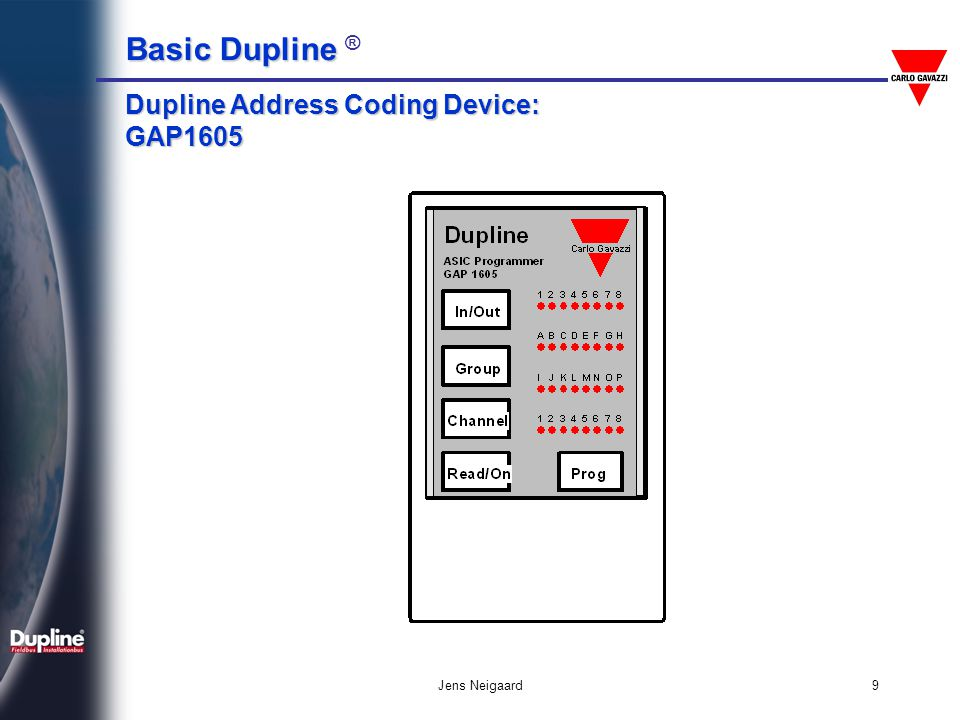 Dupline Address Coding Device: GAP1605
