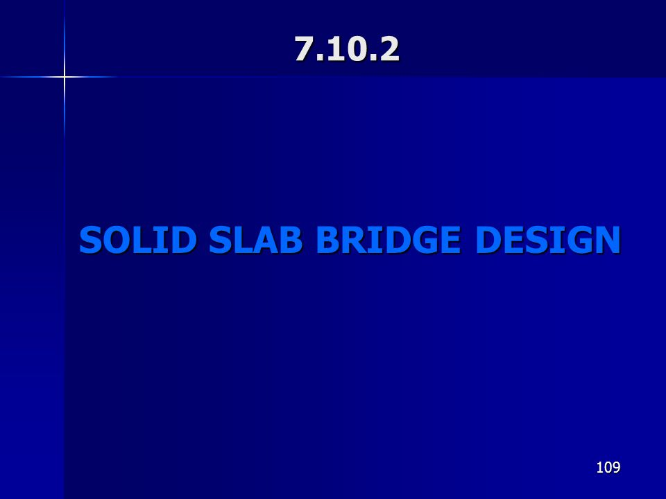 SOLID SLAB BRIDGE DESIGN