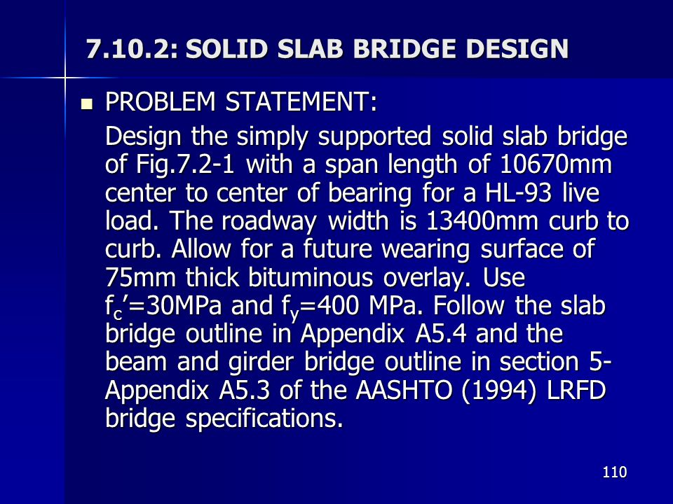 7.10.2: SOLID SLAB BRIDGE DESIGN