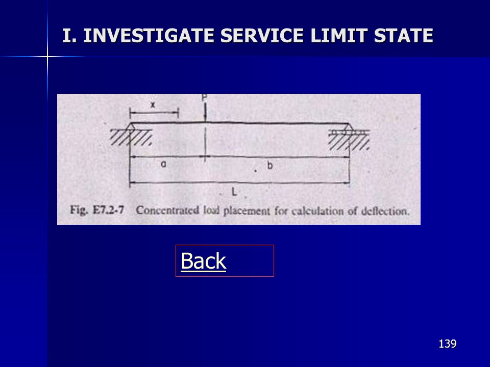 I. INVESTIGATE SERVICE LIMIT STATE