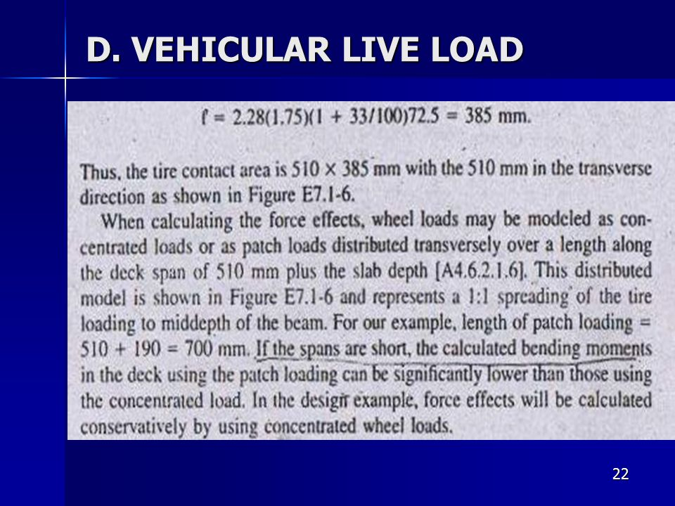 D. VEHICULAR LIVE LOAD