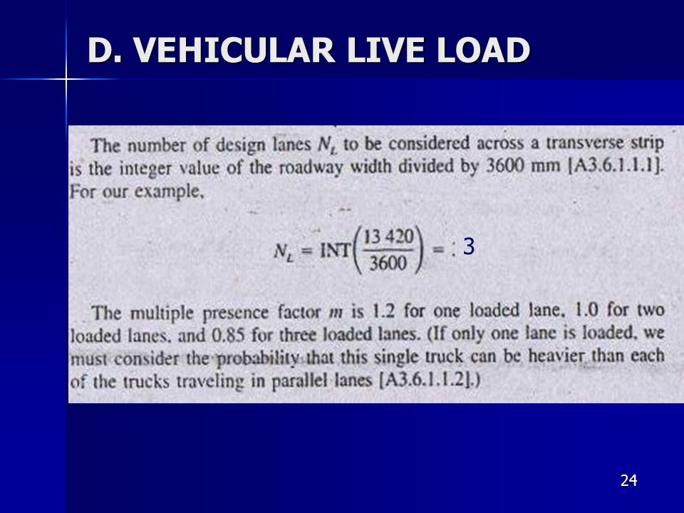 D. VEHICULAR LIVE LOAD 3