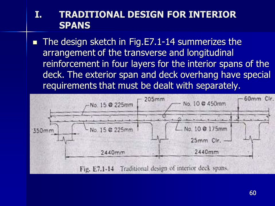 TRADITIONAL DESIGN FOR INTERIOR SPANS