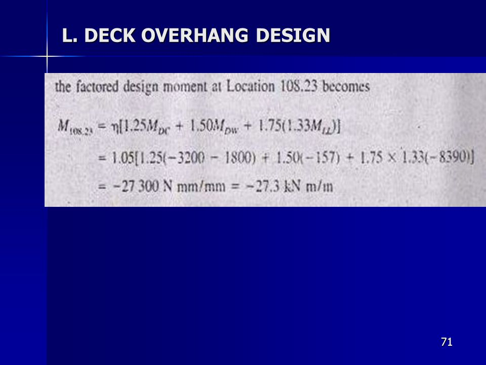 L. DECK OVERHANG DESIGN