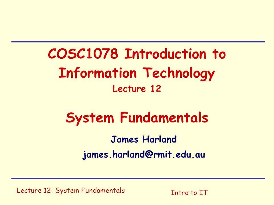James Harland james.harland@rmit.edu.au