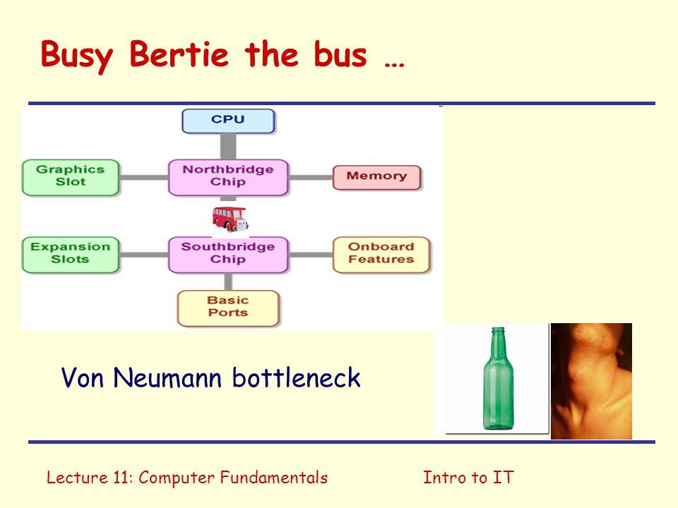 Busy Bertie the bus … Von Neumann bottleneck