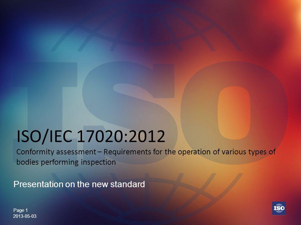 Presentation on the new standard