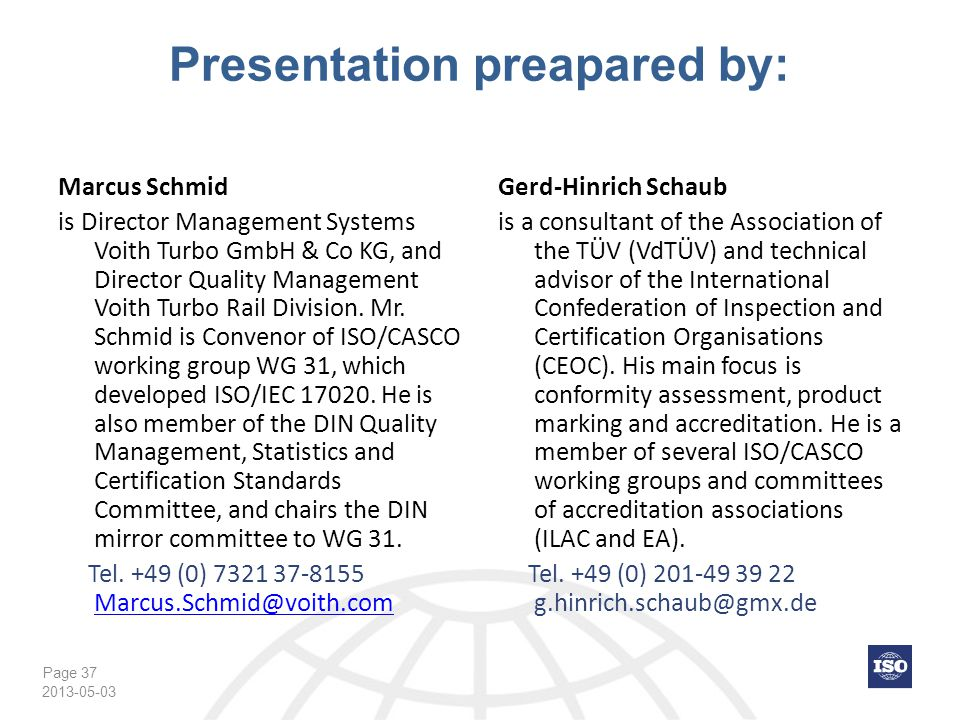 Presentation preapared by: