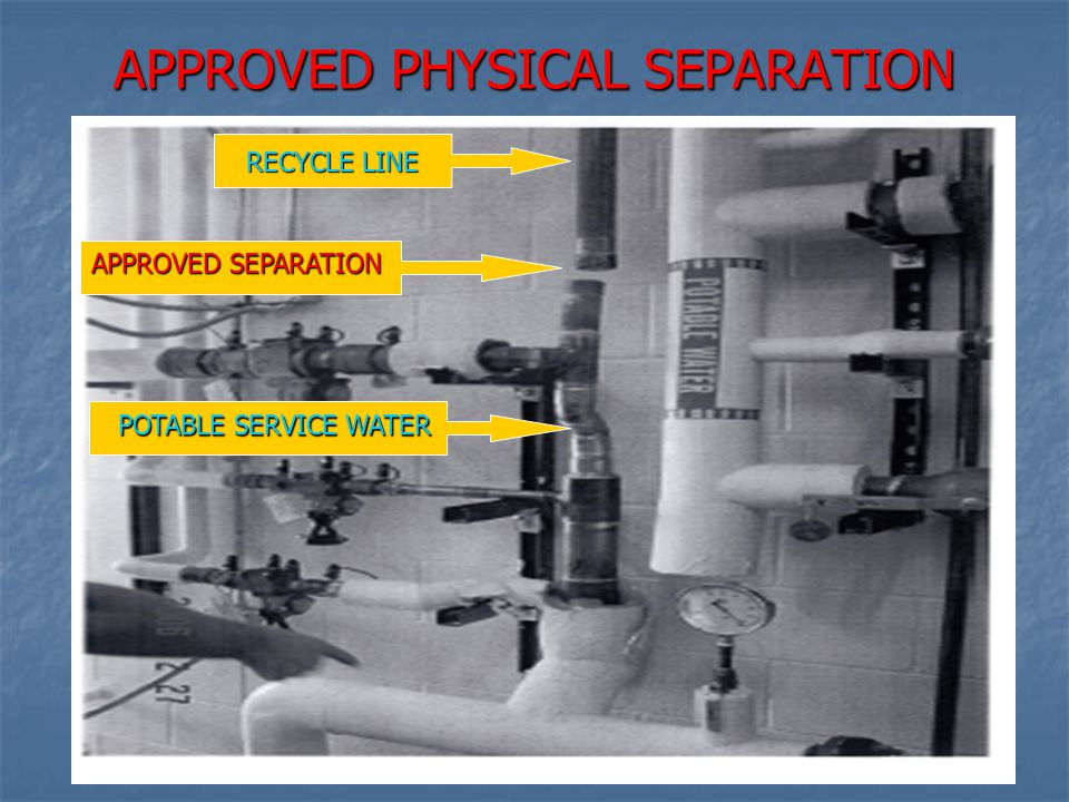 APPROVED PHYSICAL SEPARATION