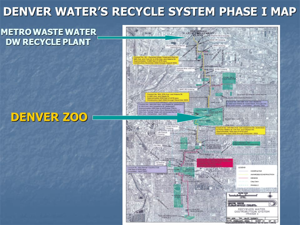 DENVER WATER'S RECYCLE SYSTEM PHASE I MAP