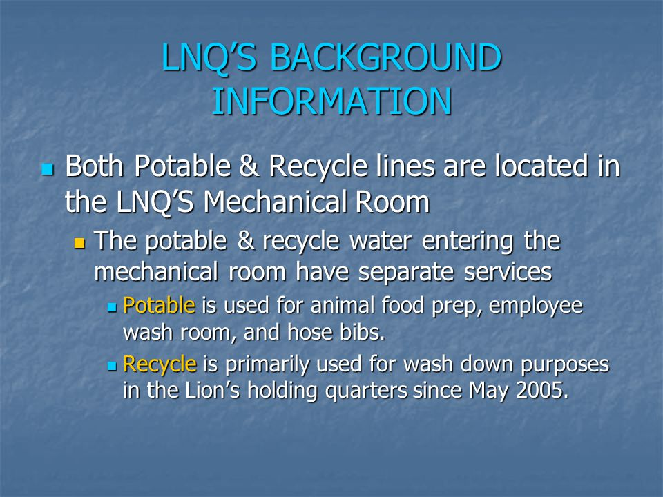 LNQ'S BACKGROUND INFORMATION