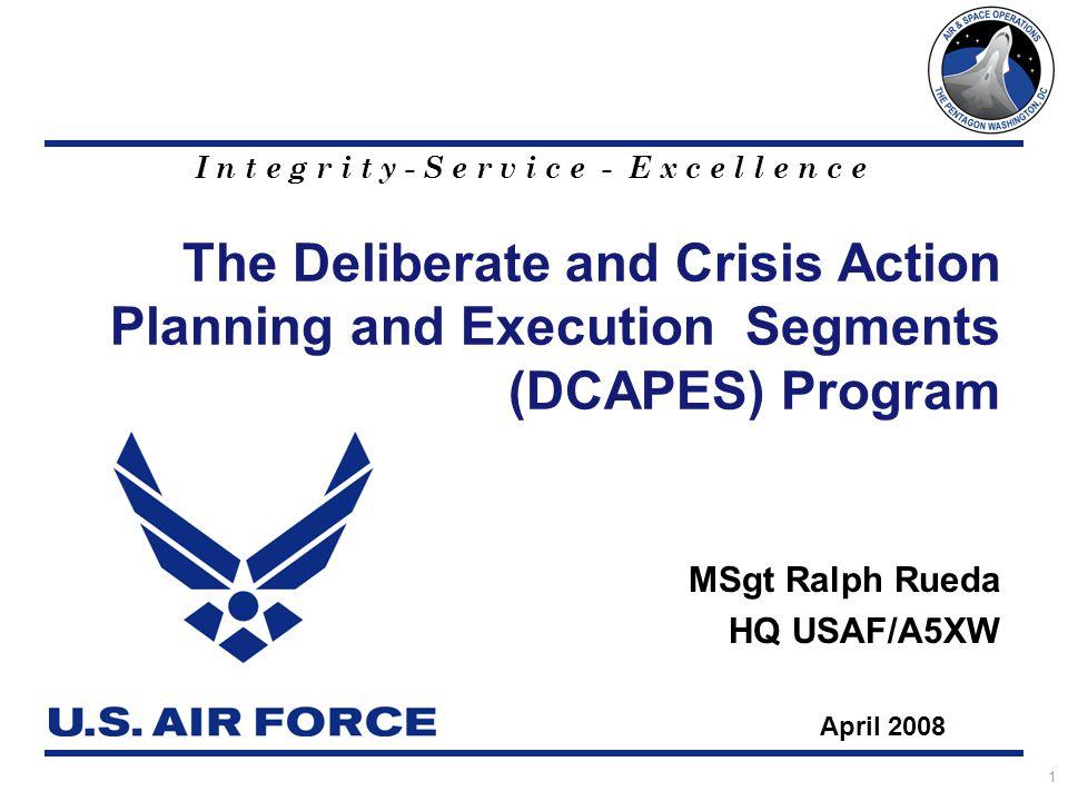 MSgt Ralph Rueda HQ USAF/A5XW