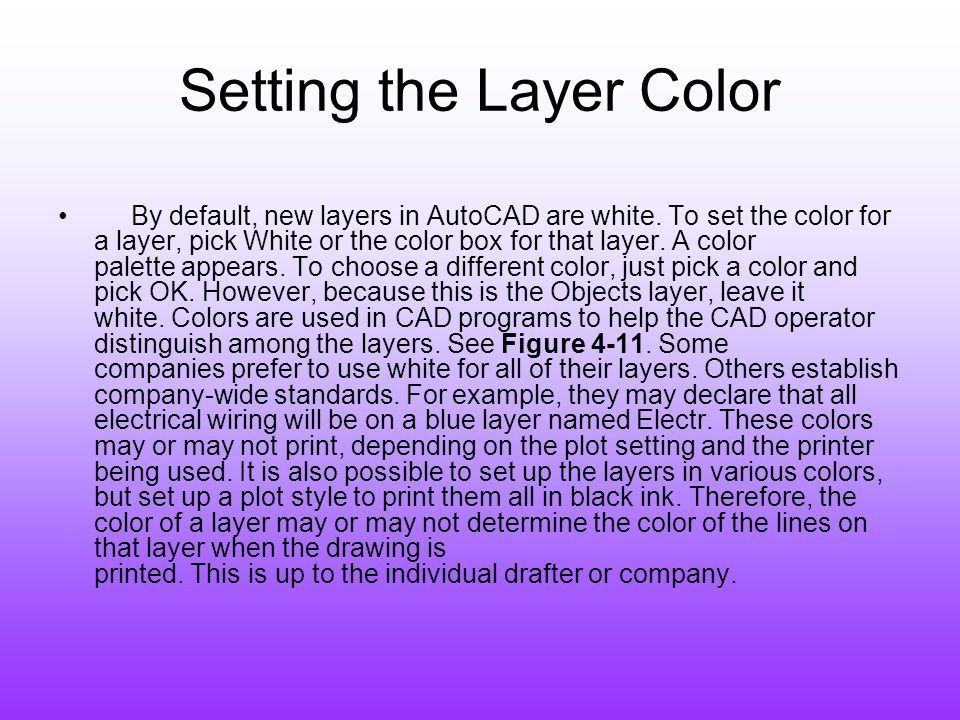 Setting the Layer Color
