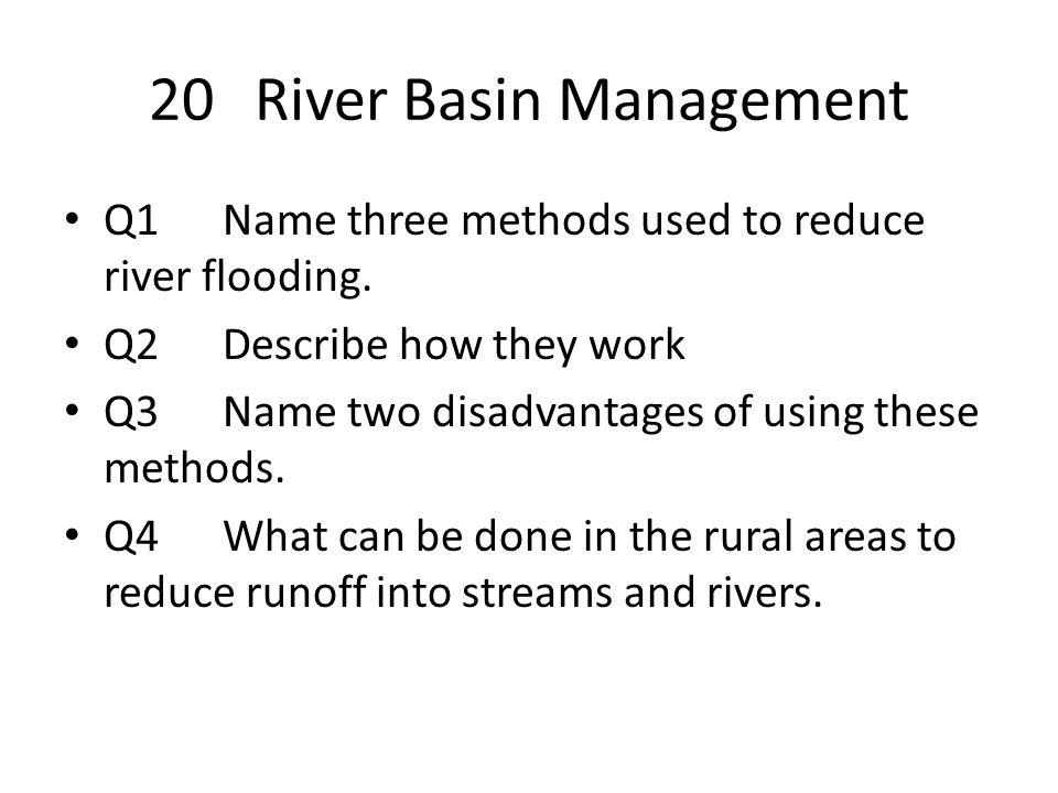 20 River Basin Management