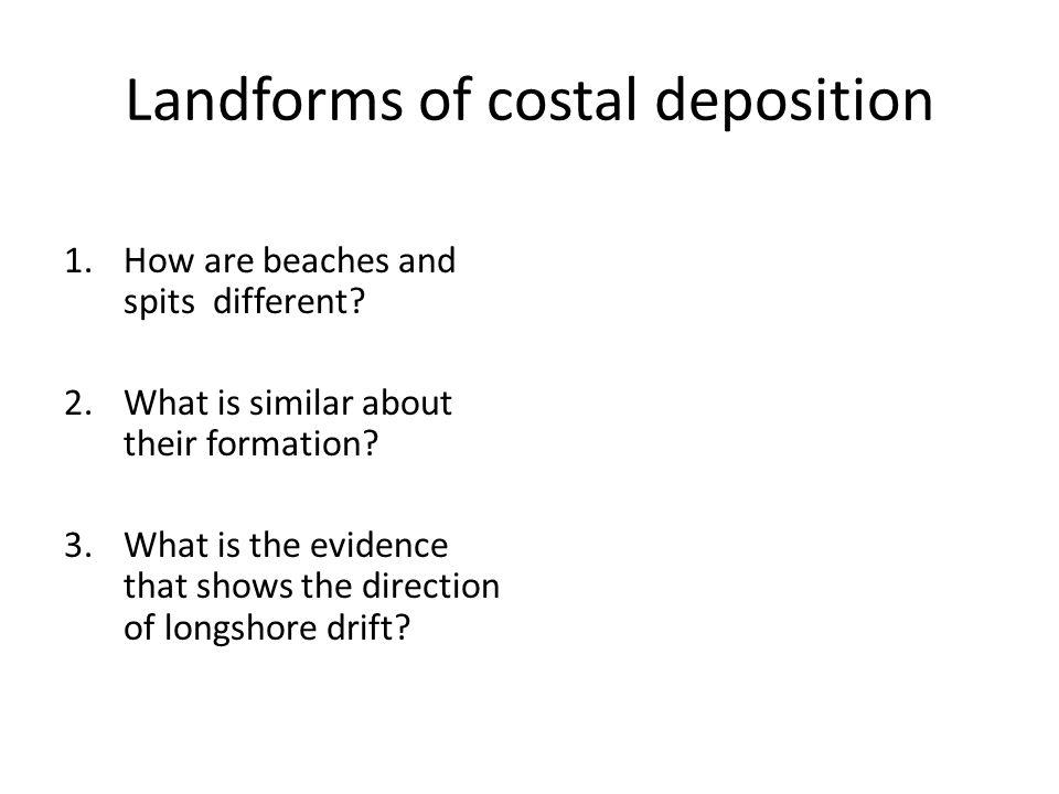 Landforms of costal deposition