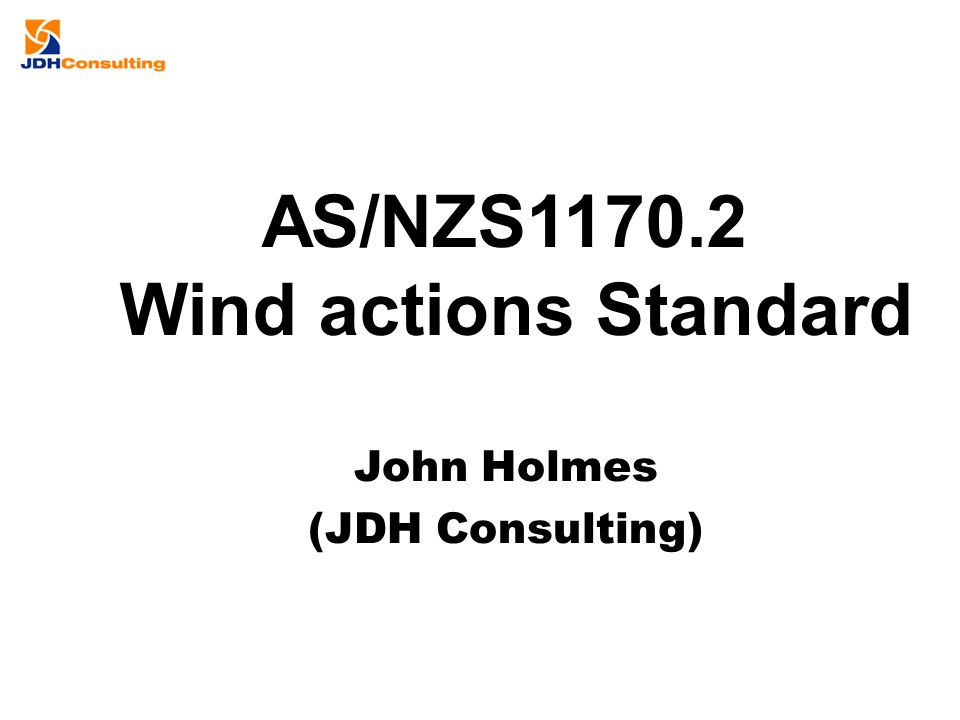 AS/NZS1170.2 Wind actions Standard