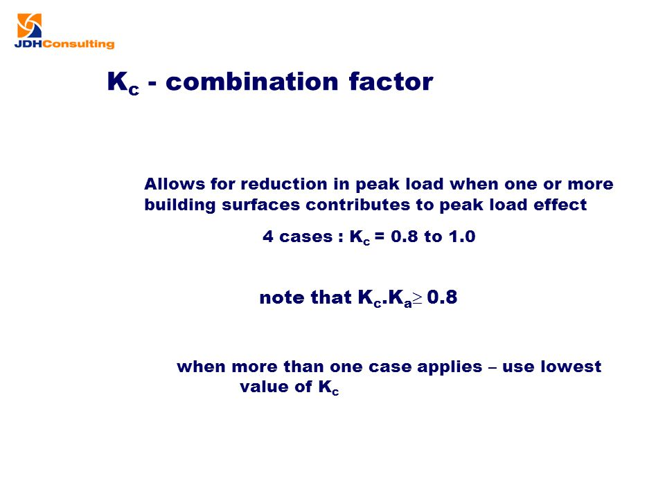 Kc - combination factor