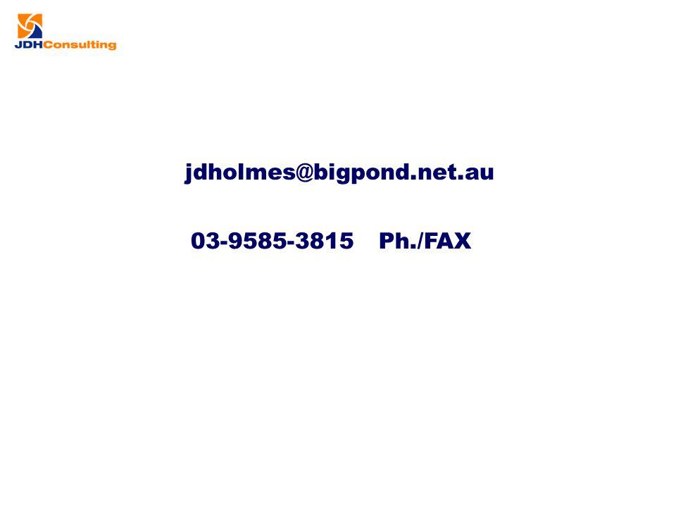 jdholmes@bigpond.net.au 03-9585-3815 Ph./FAX