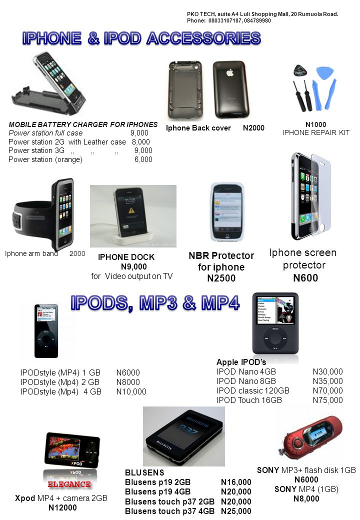 IPHONE & IPOD ACCESSORIES
