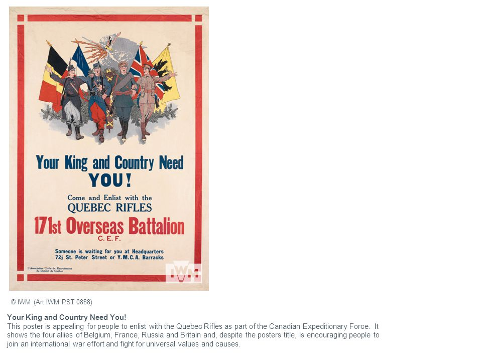 Your King and Country Need You!