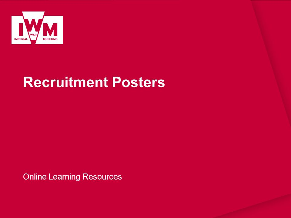 Recruitment Posters Online Learning Resources