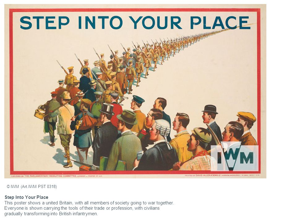 © IWM (Art.IWM PST 0318) Step Into Your Place.