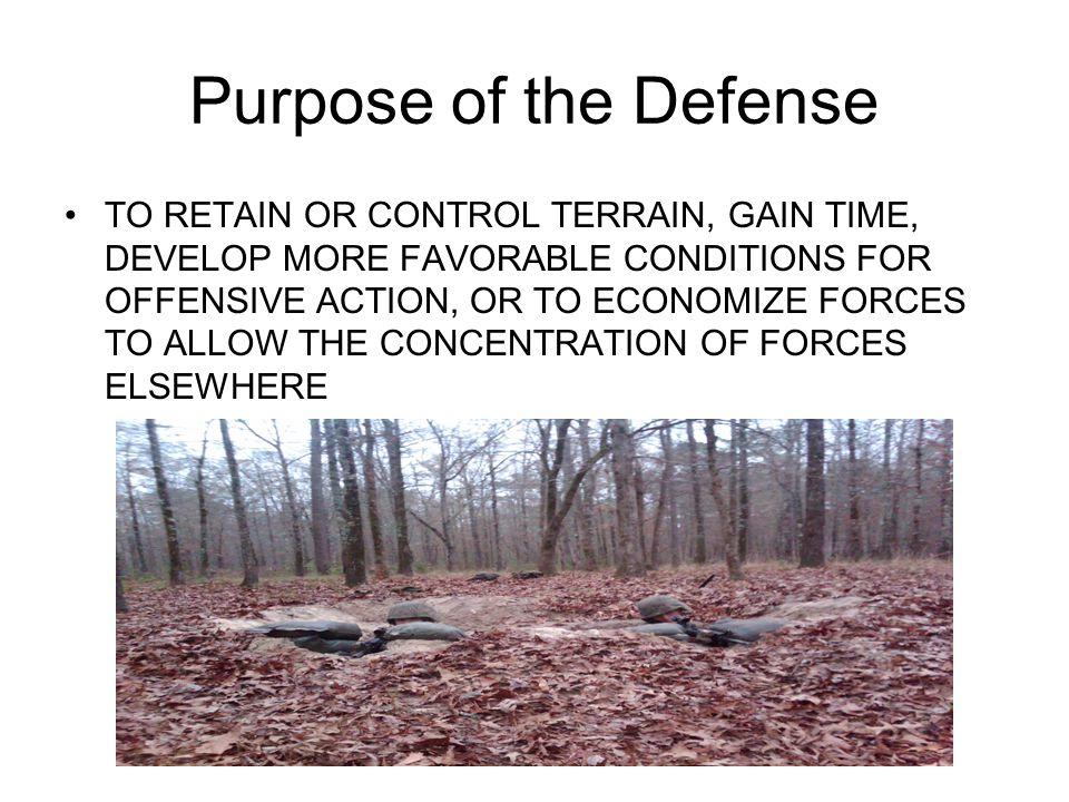 Purpose of the Defense
