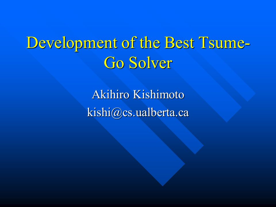 Development of the Best Tsume-Go Solver
