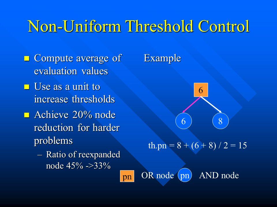 Non-Uniform Threshold Control