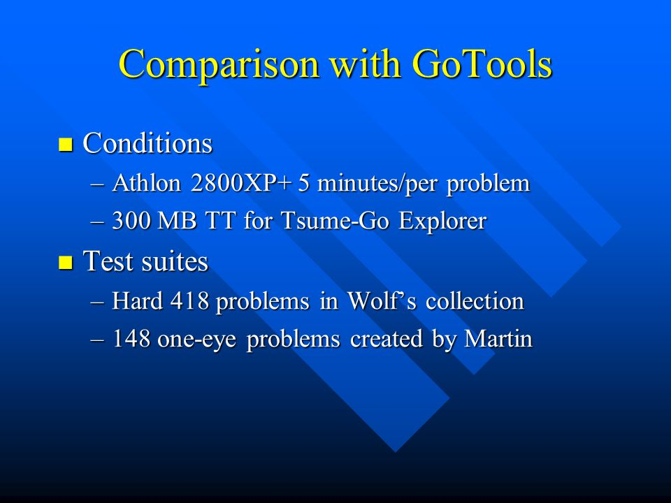 Comparison with GoTools
