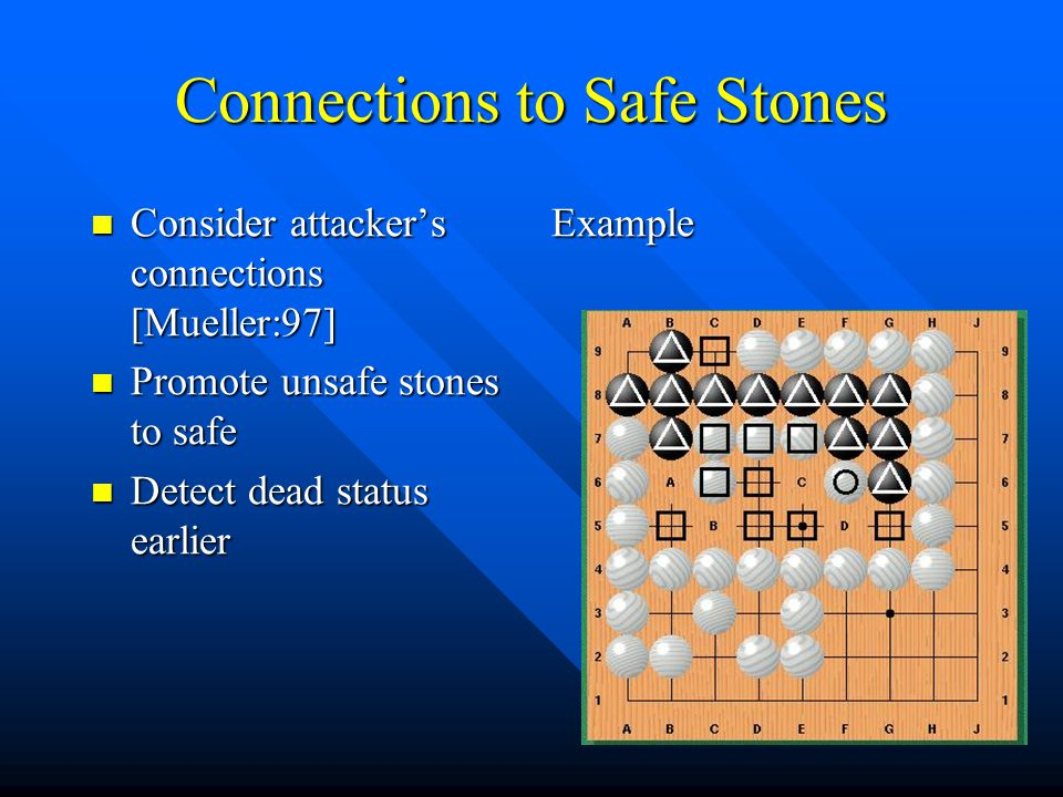 Connections to Safe Stones