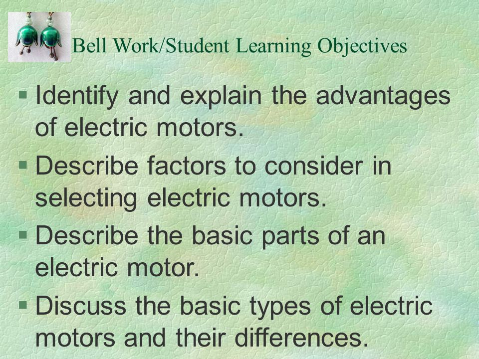 Bell Work/Student Learning Objectives