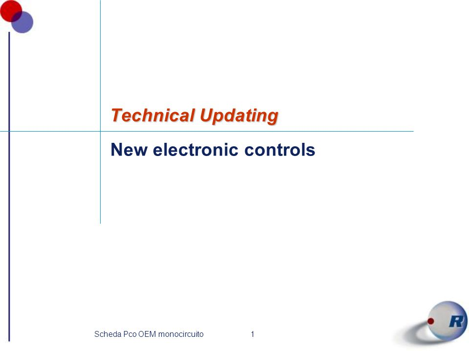 New electronic controls