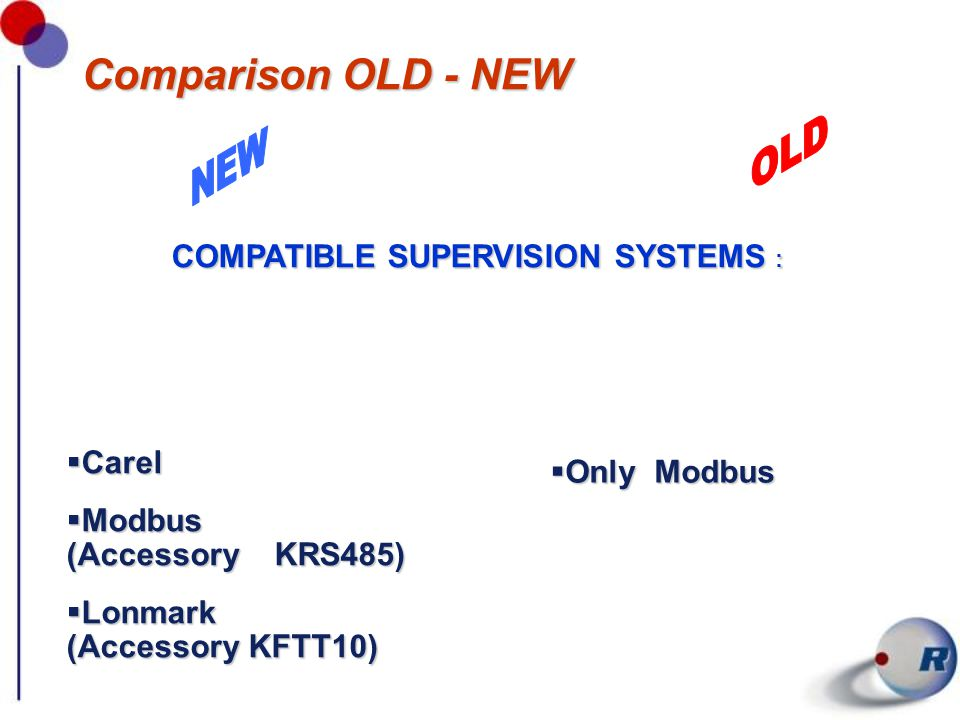 COMPATIBLE SUPERVISION SYSTEMS :