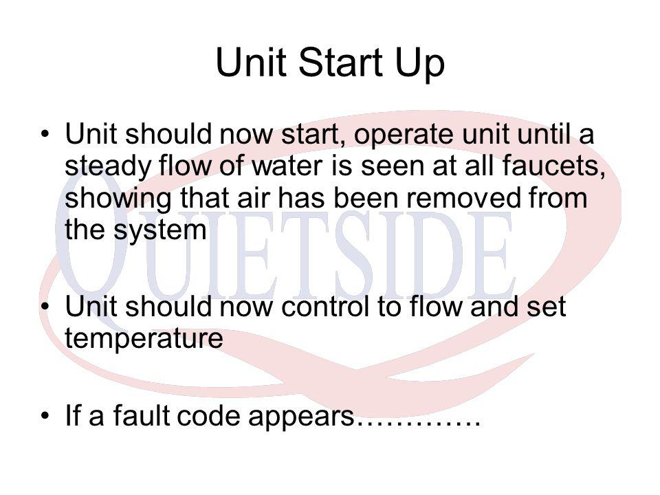 Unit Start Up