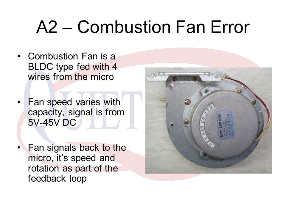 A2 – Combustion Fan Error