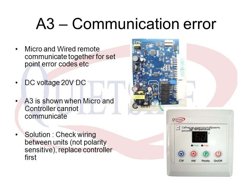 A3 – Communication error